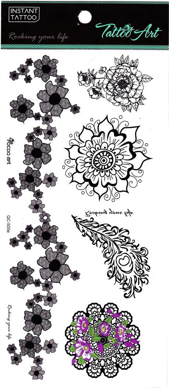 Henna tetoválás matrica 11cmX21cm QC505E