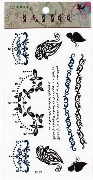 Henna tetoválás matrica 10cmX17cm FR23