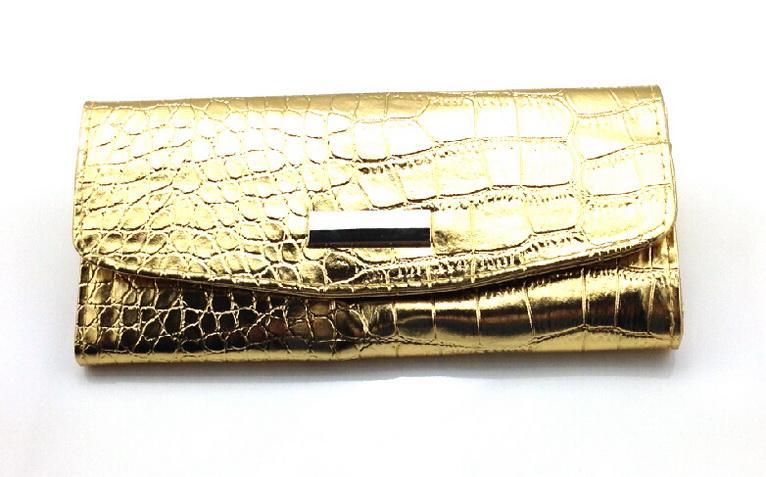7 részes Patentos ecsettartó tok -fényes arany