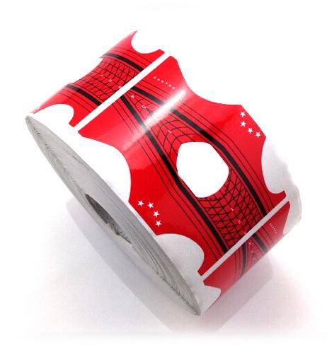 Stiletto műköröm sablon 500db , piros