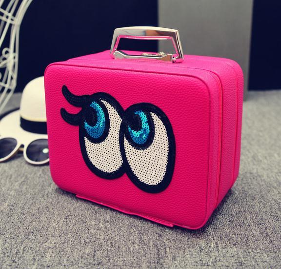 Big eyes Kozmetikai táska,fuchsia