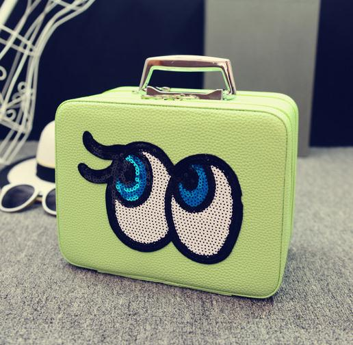Big eyes Kozmetikai táska,L.Zöld