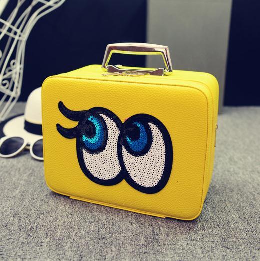 Big eyes Kozmetikai táska,Sárga