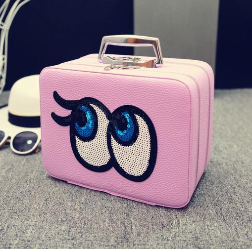 Big eyes Kozmetikai táska, L.Lila