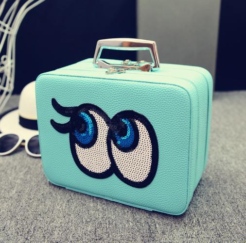 Big eyes Kozmetikai táska,L.Kék