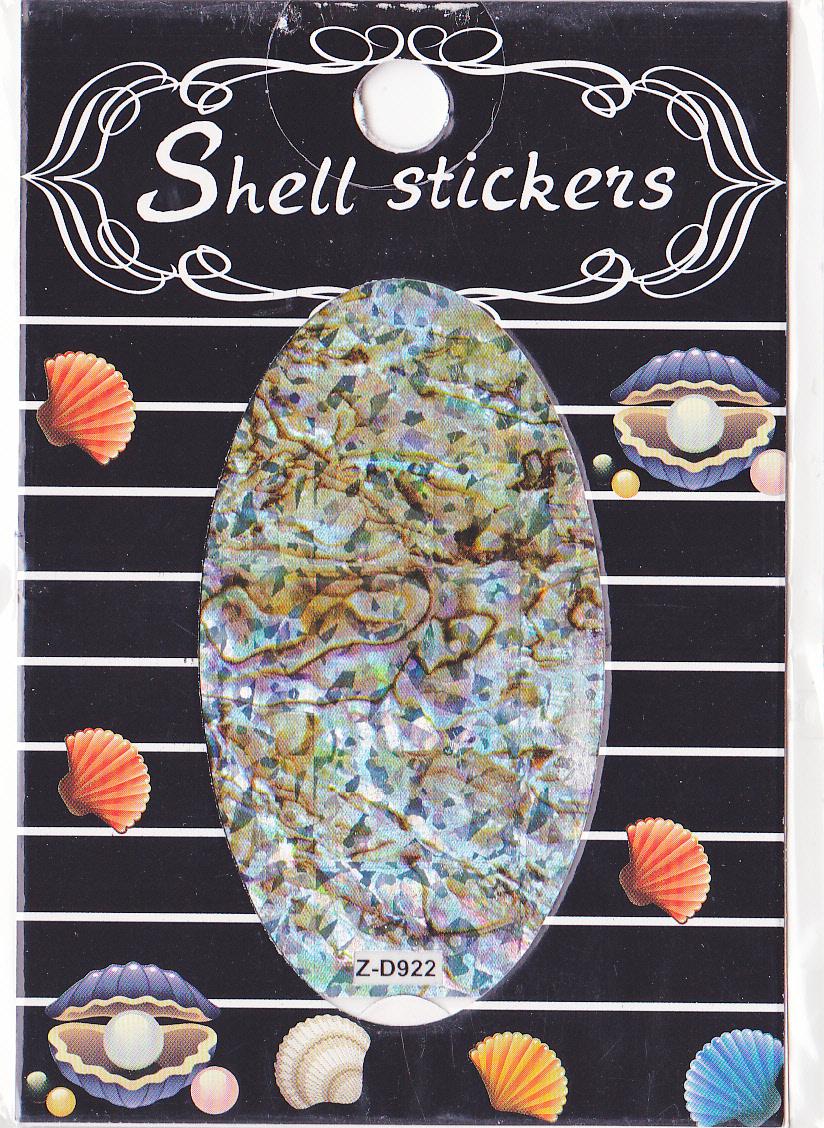 kagyló hatasú matrica,öntapadós, z-d922