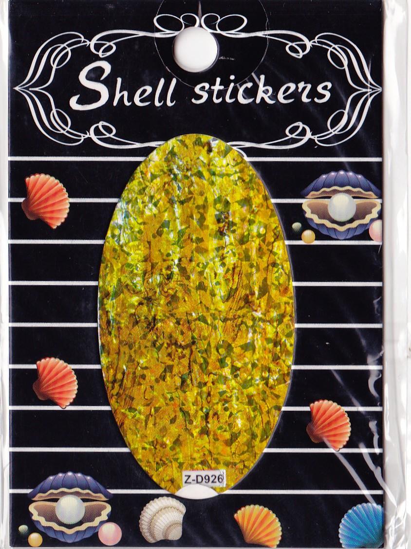 kagyló hatasú matrica,öntapadós, z-d926