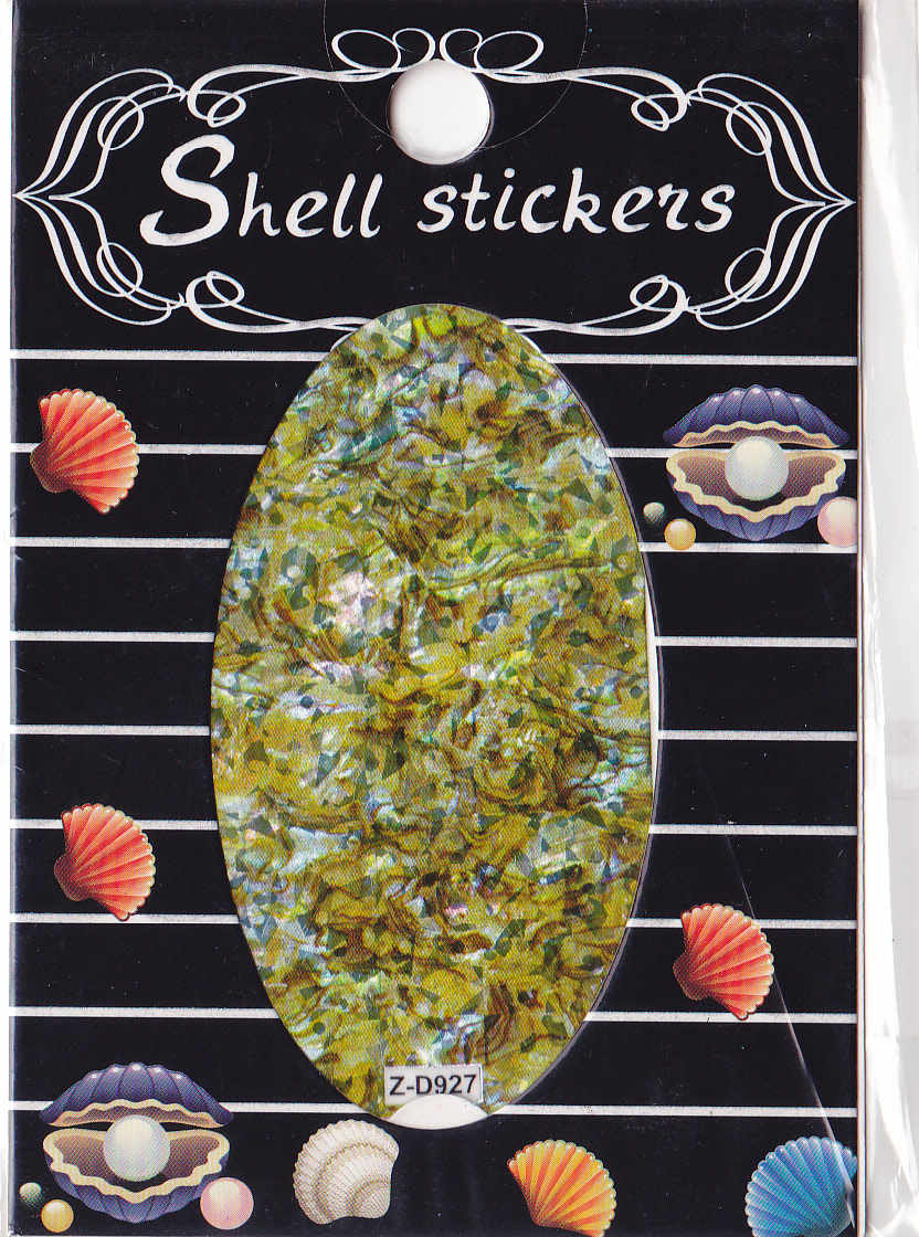 kagyló hatasú matrica,öntapadós, z-d927