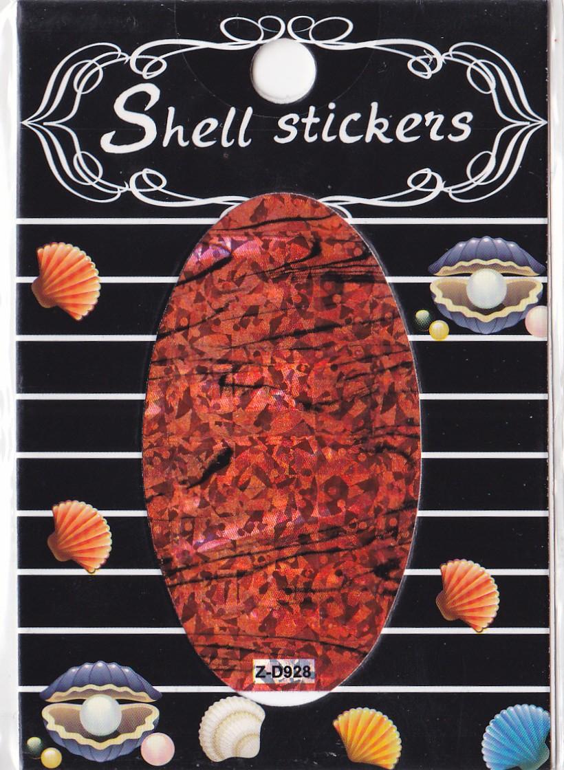 kagyló hatasú matrica,öntapadós,z-d928