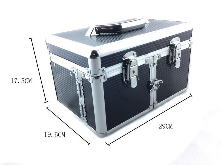 Kozmetikai bőrönd/Műkörmös táska-Fekete