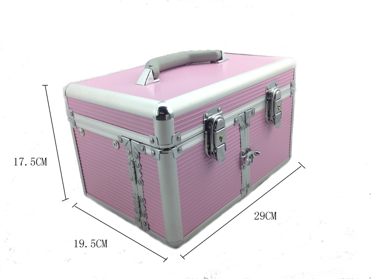 Kozmetikai bőrönd/Műkörmös táska-Rózsaszín