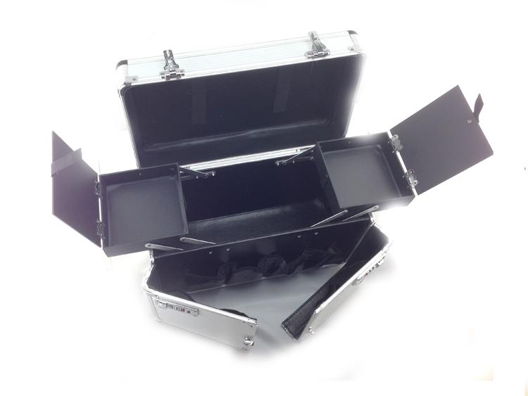 Kozmetikai bőrönd/Műkörmös táska-Ezüst(4S)