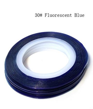 Műköröm díszítő csík 30-Fluorescent Blue