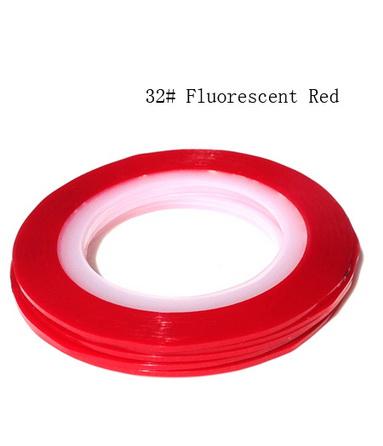 Műköröm díszítő csík 32-Fluorescent Red