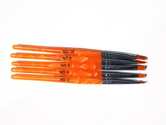 Zselé ecset lapos G1-narancs