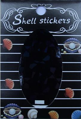 kagyló hatasú matrica,öntapadós, z-d918
