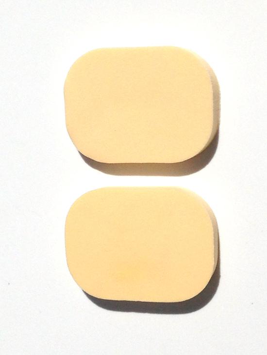 Kozmetikai szivacs 2db,bőrszín