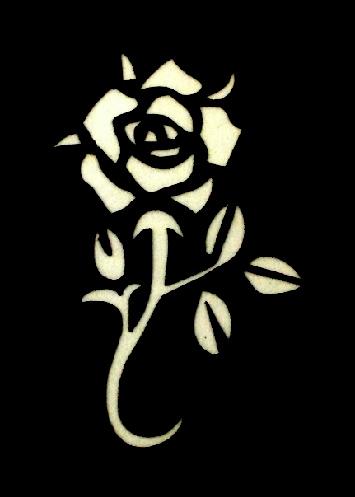 Csillám tetováló sablon 4cmx6cm