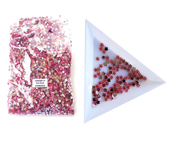 3mm virág kövek,10000db/cs,Rose