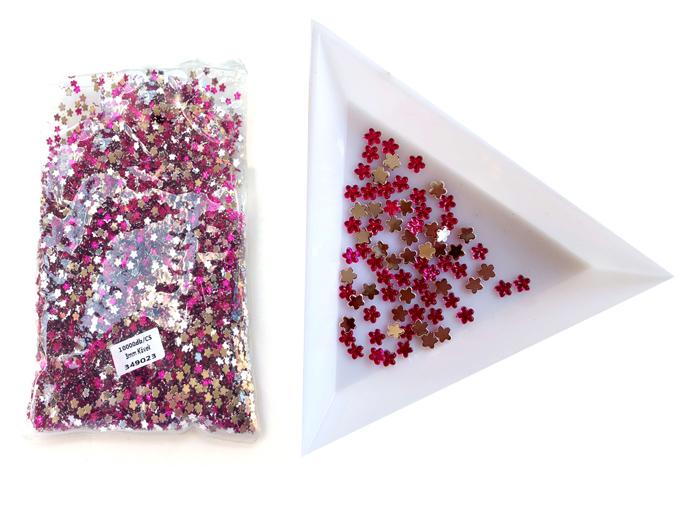 3mm virág kövek,10000db/cs,Fuchsia