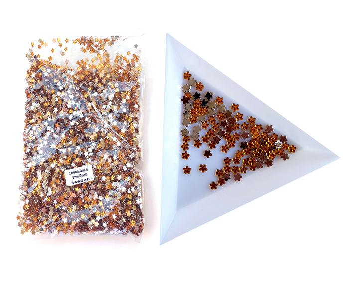 3mm virág kövek,10000db/cs,Topaz