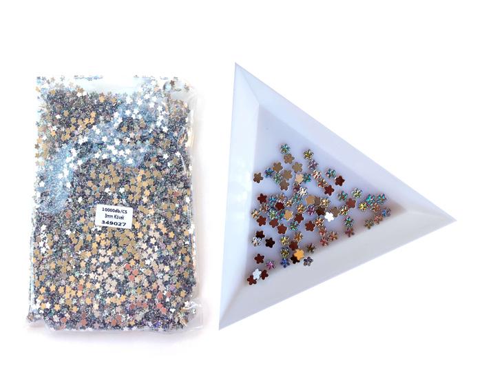 3mm virág kövek,10000db/cs,Crystal AB