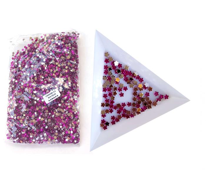 3mm virág kövek,10000db/cs,Lila