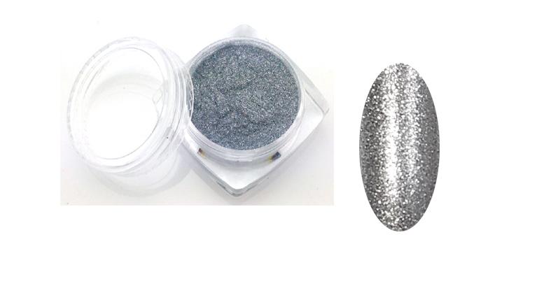 Sellőpor 13#-fényes ezüst (szuper finom) 1/500