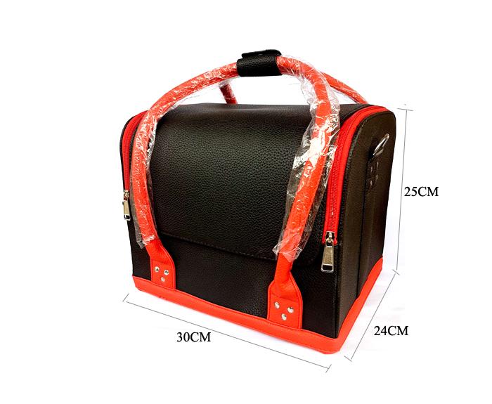 Kozmetikai táska (fekete-piros)