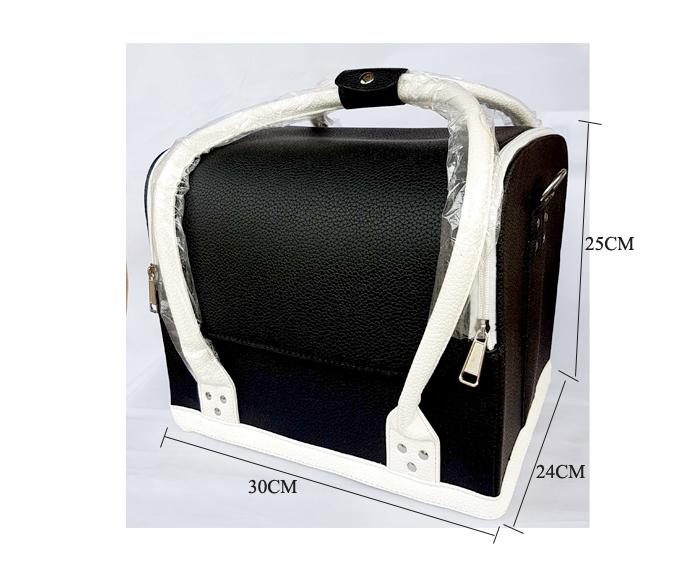 Kozmetikai táska (fekete-feher)
