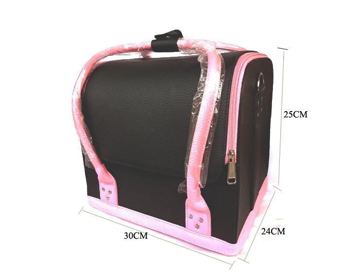 Kozmetikai táska (fekete-pink)