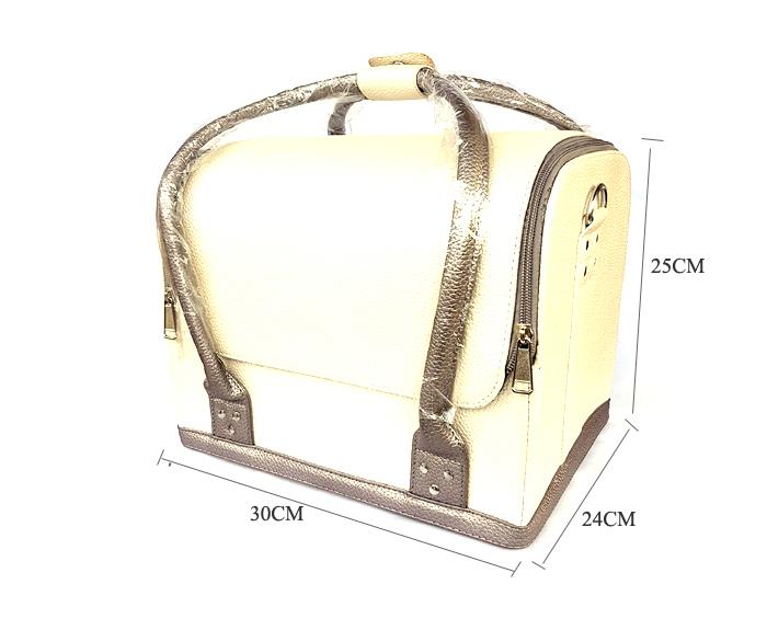 Kozmetikai táska (feher-barna)
