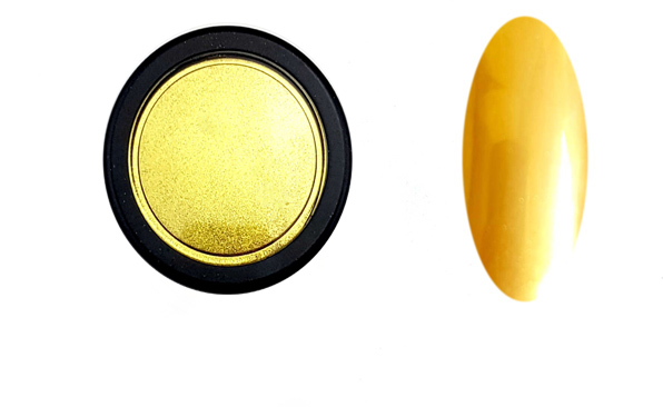 Chrome Mirror pigmentpor (extra finom szemcsék)-arany