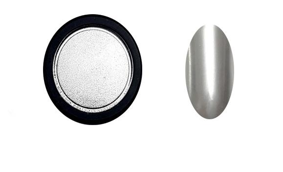 Chrome Mirror pigment por, ezüst