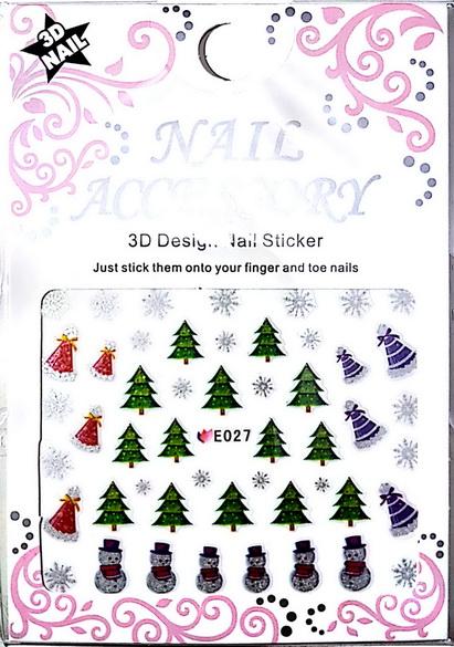 Karácsony Köröm  matrica ,öntapadós, E027