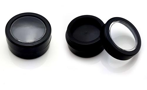 3ml Műanyag Fekete Tégely,