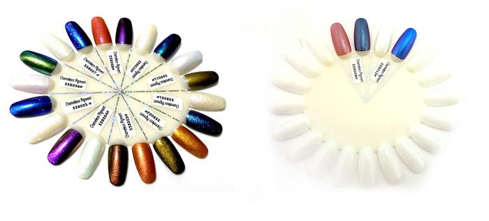 Kaméleon Pigment por-Festett színskála