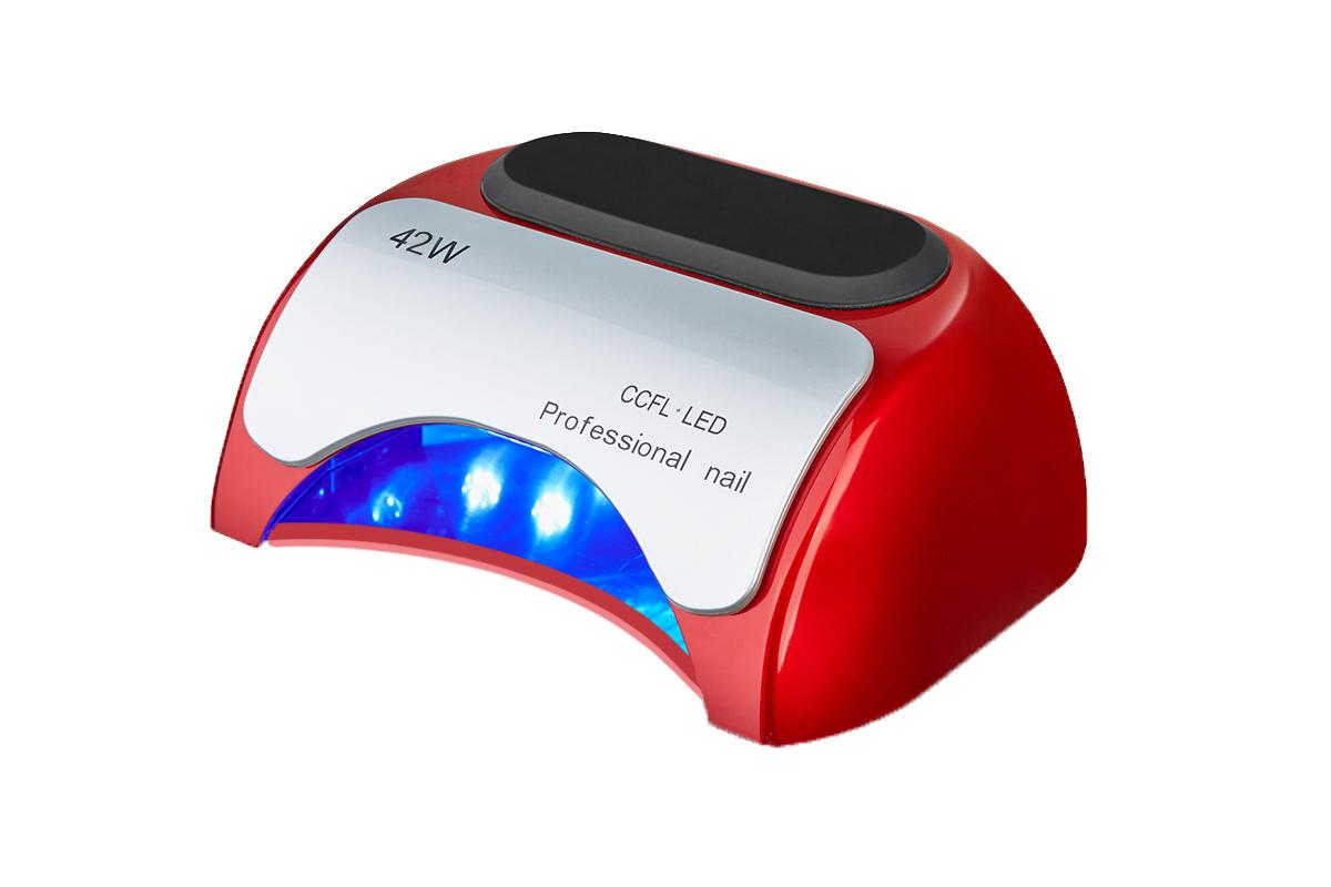 LED nail lámpa  48w,piros