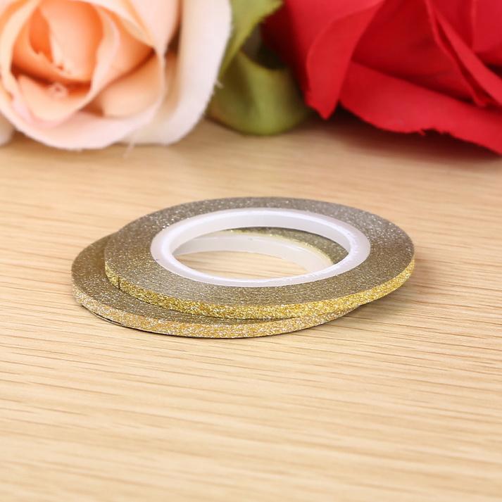 3D matt Műköröm díszítő csík ,arany,2mm