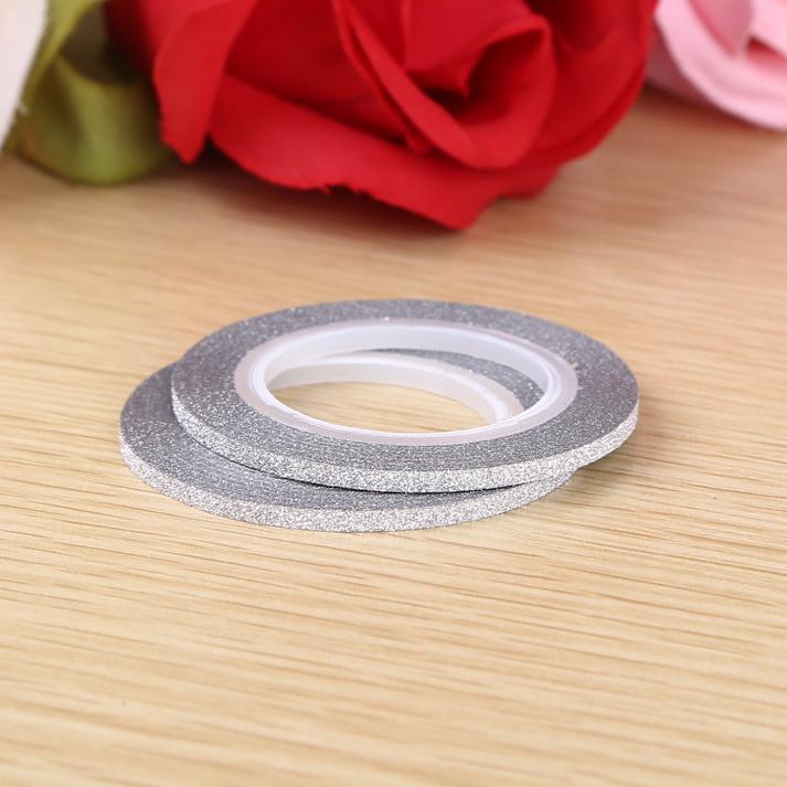 3D matt Műköröm díszítő csík ,ezüst,2mm