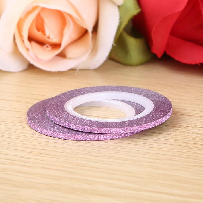 3D matt Műköröm díszítő csík ,pink,2mm