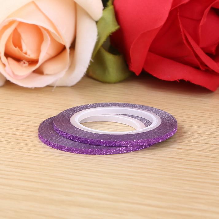 3D matt Műköröm díszítő csík ,lila,2mm