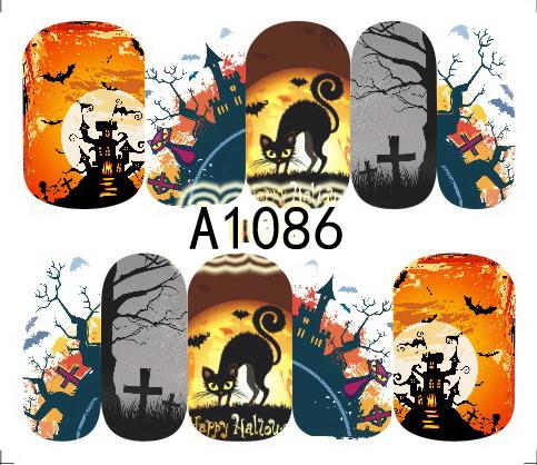Halloween Akril Hatású Matrica,vizes, A1086