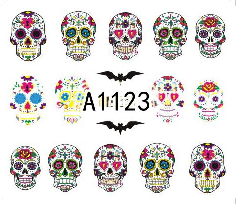 Halloween Akril Hatású Matrica,vizes,A1123