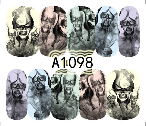 Halloween Akril Hatású Matrica,vizes A1098