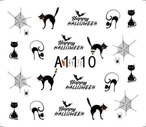 Halloween Akril Hatású Matrica,vizes A1110