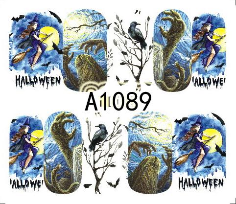 Halloween Akril Hatású Matrica,vizes,A1089