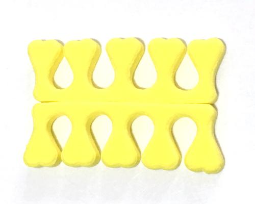 Lábújj szeparátor ,puha habszivacs 1pár,sárga