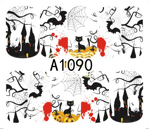 Halloween Akril Hatású Matrica,vizes,A1090