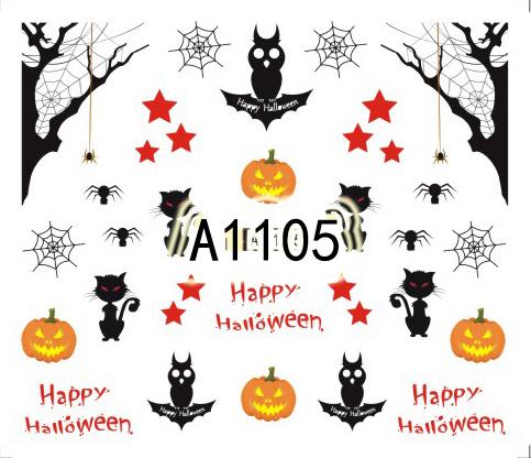 Halloween Akril Hatású Matrica,vizes,A1105